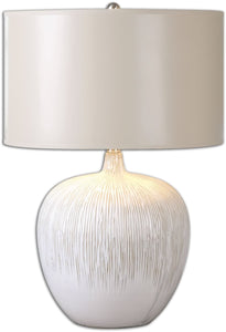 Uttermost 23 inchh Georgios 1-Light Table Lamp Distressed Aged Ivory 26194-1