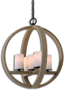 Gironico Round 5-Light Pendant Aged Black