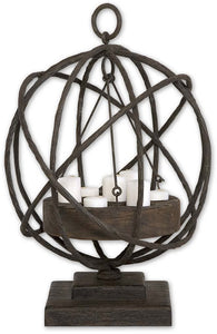 Uttermost Sammy Candle Holder Weathered Chestnut 17059