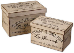 Uttermost Chocolaterie Boxes Antique White 19300