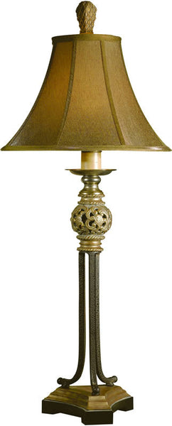 Uttermost Jenelle 2-Way Table Lamp Red Underlayer Covered 29091