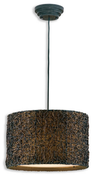 Uttermost Knotted Rattan Hanging Shade Espresso 21103