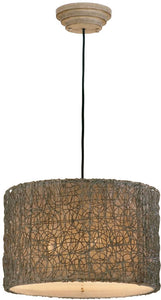 "23""w Knotted Rattan 3-Light Pendant Light Chai"