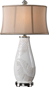 Uttermost 33 inchh Lorida 1-Light Table Lamp Lightly Distressed White 27447