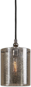Uttermost Mariano 1-Light Mini Pendant Plated Polished Nickel 22005