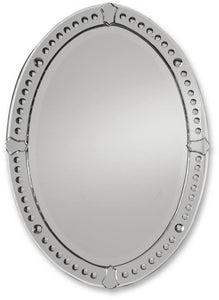Uttermost Graziano Oval Mirror Curved Beveled Mirrors 05003B