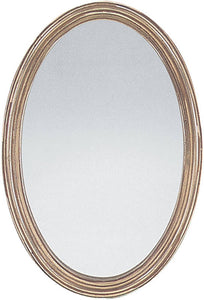 Uttermost Franklin Oval Oval Mirror Distressed Silver Leaf 08601P