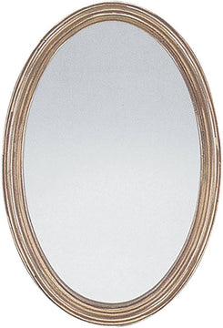 "31""H x 21""W Franklin Oval Oval Mirror Distressed Silver Leaf"