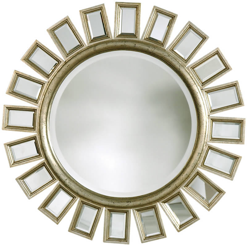 "34""H Cyrus Mirrors Distressed Silver Leaf"