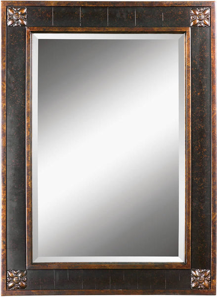 Uttermost Bergamo Mirror Distressed Chestnut Brown 14156B