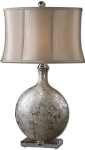 Uttermost 31 inchh Navelli 1-Light Table Lamp Metallic Silver 27428