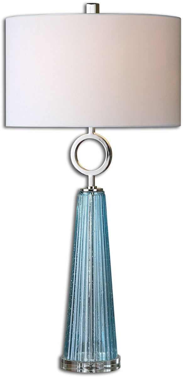 "34""H Navier  1-Light Table Lamp Polished Nickel"