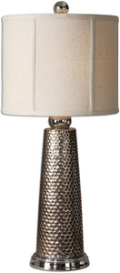 Uttermost 27 inchh Nenana 1-Light Table Lamp Golden Bronze 29288-1