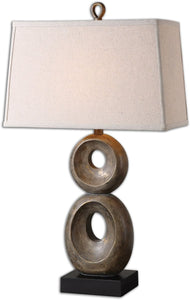 Uttermost 31 inchh Osseo 1-Light Table Lamp Distressed Dusty Gray 26562
