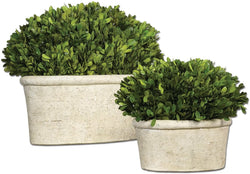"12""h Oval Domes Botanical Mossy Stone"