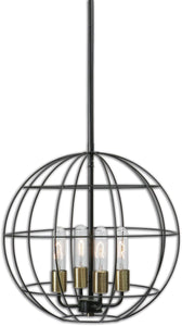 Uttermost Palla 4-Light Pendant Distressed Bronze 22023