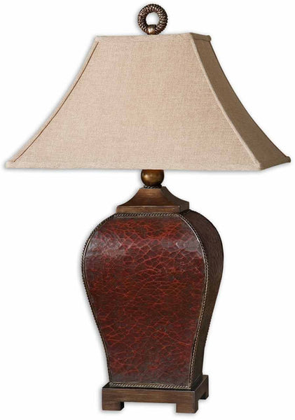 Uttermost Patala 1-Light Table Lamp Deep Red 27662