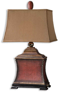 Uttermost Pavia 1-Light Table Lamp Aged Red 26326