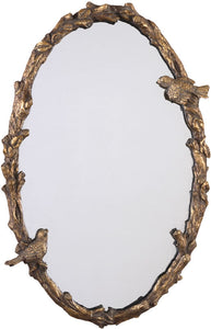 "34x22"" Paza Mirror Gold Leaf"