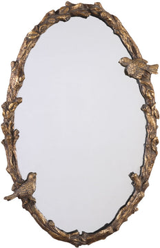 "34""H x 22""W Paza Mirror Gold Leaf"