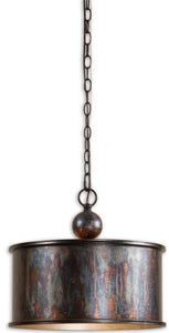 "16""w Albiano Metal Hanging Shade Oxidized Bronze"