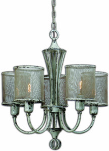 Uttermost Pontoise 5-Light Chandelier Distressed Antiqued ivory 21259