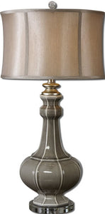 Uttermost 32 inchh Racimo 1-Light Table Lamp Gray/Ivory/Silver 27427-1