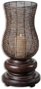 "26""h Rickma Candle Holder Chestnut Brown"