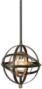 Rondure 1-Light Mini Pendant Dark Oil Rubbed Bronze