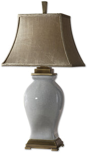 Uttermost Rory Blue 1-Light Table Lamp Crackled Sky Blue Glaze 26736
