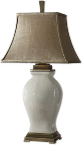 "33""h Rory Ivory 1-Light Table Lamp Aged Ivory Glaze"