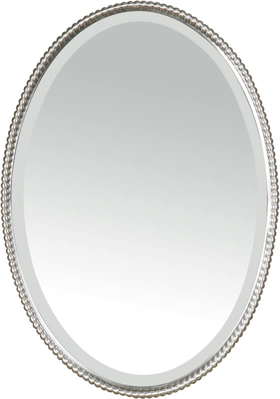 "32""H x 22""W Sherise Oval Mirror Brushed Nickel"