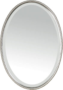 "32x22"" Sherise Oval Mirror Brushed Nickel"
