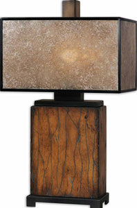 Uttermost 28 inchh Sitka 1-Light Table Lamp Rustic Mahogany 26757-1