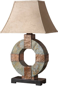 Uttermost Slate Table Lamp Hand Carved Slate 26307