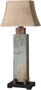 Uttermost Slate Tall Table Lamp Hand Carved Slate 26308