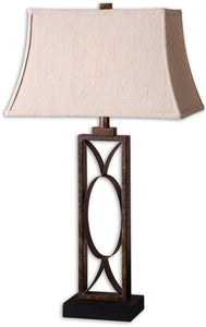 "32""h Manicopa 1-Light Table Lamp Dark Bronze"