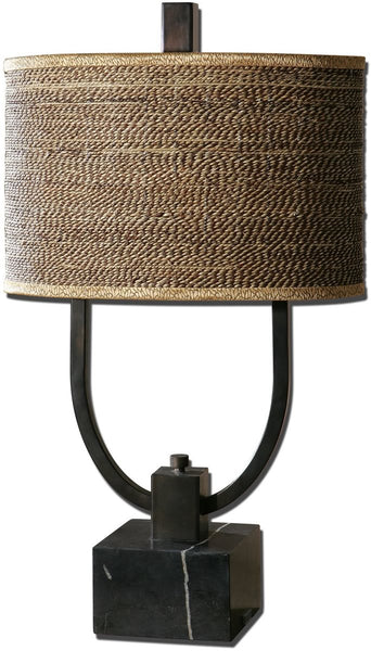Uttermost Stabina 2-Light Table Lamp Rustic Bronze Metal 265411