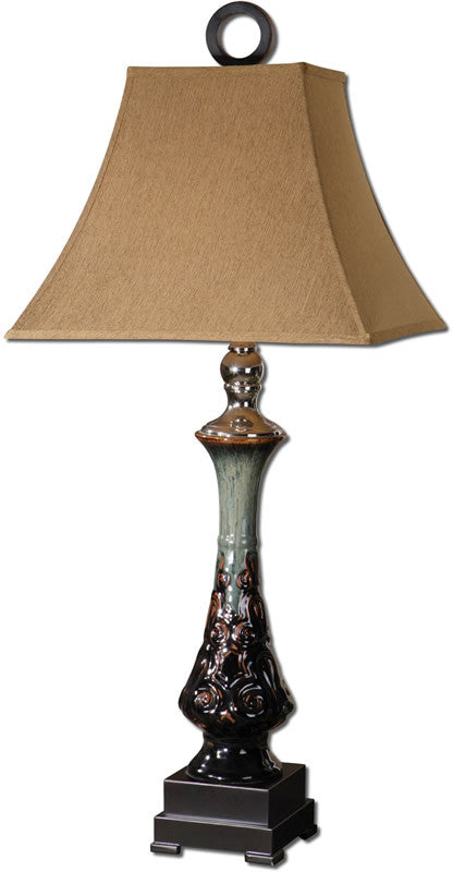 "37""H Scopello 1-Light Table Lamp Hues of Blue"