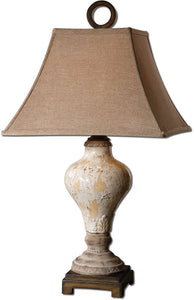 Uttermost Fobello 1-Light Table Lamp Crackled Ivory 26785