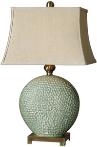 "29""h Destin 1-Light Table Lamp Aquamarine Glaze"