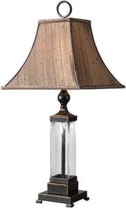 Uttermost Bartlet 2-Way Table Lamp Mouth Blown Glass 26950
