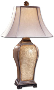 "33""h Baron 1-Light Table Lamp Ivory Crackle"