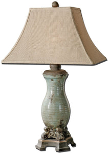 "32""h Andelle 1-Light Table Lamp Light Blue Glaze"