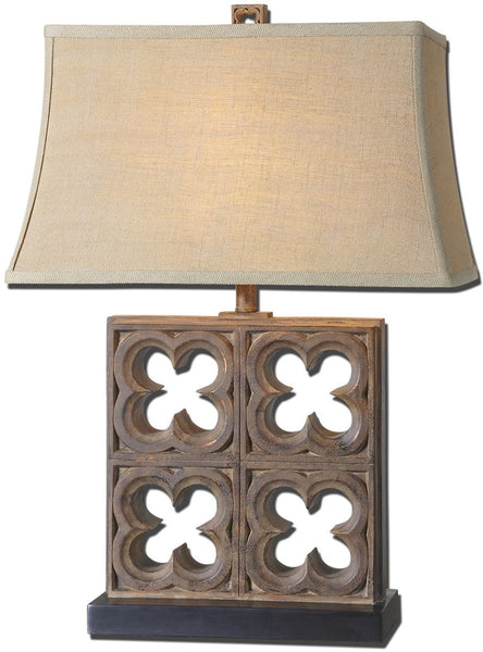 Uttermost Vettore 1-Light Table Lamp Rustic Bronze 27405