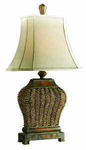 Uttermost Augustine 2-Way Table Lamp Mahogany 27502