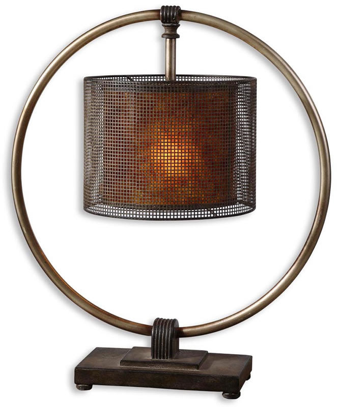 "28""H Dalou 1-Light Table Lamp Antiqued Silver"