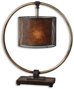 Uttermost Dalou 1-Light Table Lamp Antiqued Silver 276491