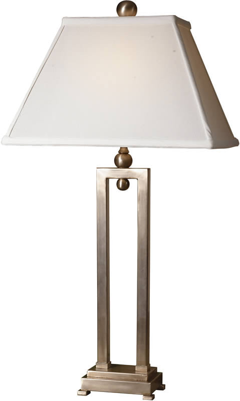 "29""H Conrad 2-Way Table Lamp Silver Plate"