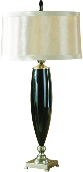 Uttermost Garvey 2-Way Table Lamp Black Mouth Blown Glass 27896
